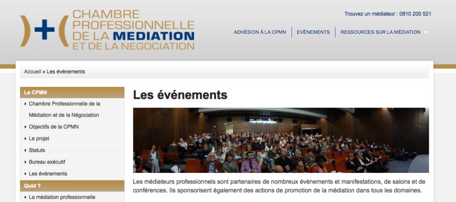 Nouveau site des m diateurs professionnels l 39 officiel de - Chambre professionnelle de la mediation et de la negociation ...