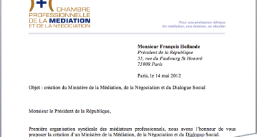 Un ministère de la médiation, de la négociation et du dialogue social …