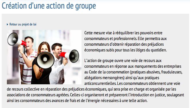 action de groupe