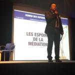 Antonio pour la remise des Espoirs de la médiation professionnelle
