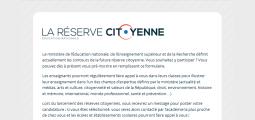 Réserve citoyenne et médiation