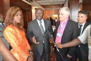 AIcha Sangaré, directrice de l'EPMN, Yacouba Tall et Jean-Louis Lascoux