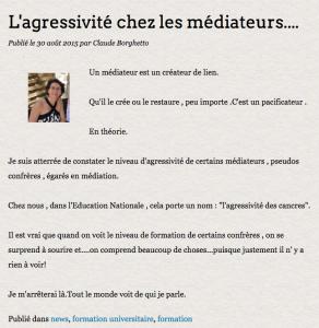 Réponse de Claude Borghetto