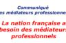 La nation française a besoin des médiateurs professionnels