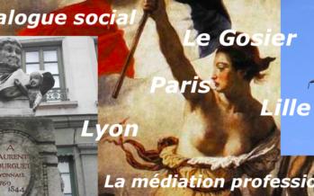 Dialogue Social : Lyon, Le Gosier, Lille, Fort-de-France, Paris avec les médiateurs professionnels