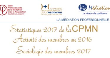 Profession médiateur : statistiques 2016 – 2017