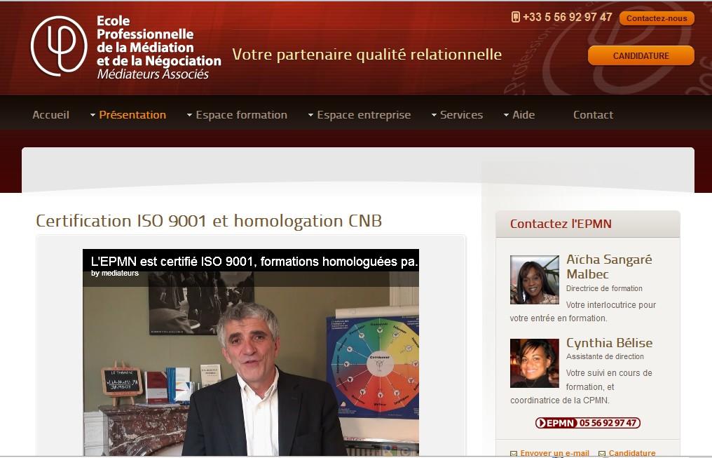 M diation professionnelle le nouveau site de la - Chambre professionnelle de la mediation et de la negociation ...