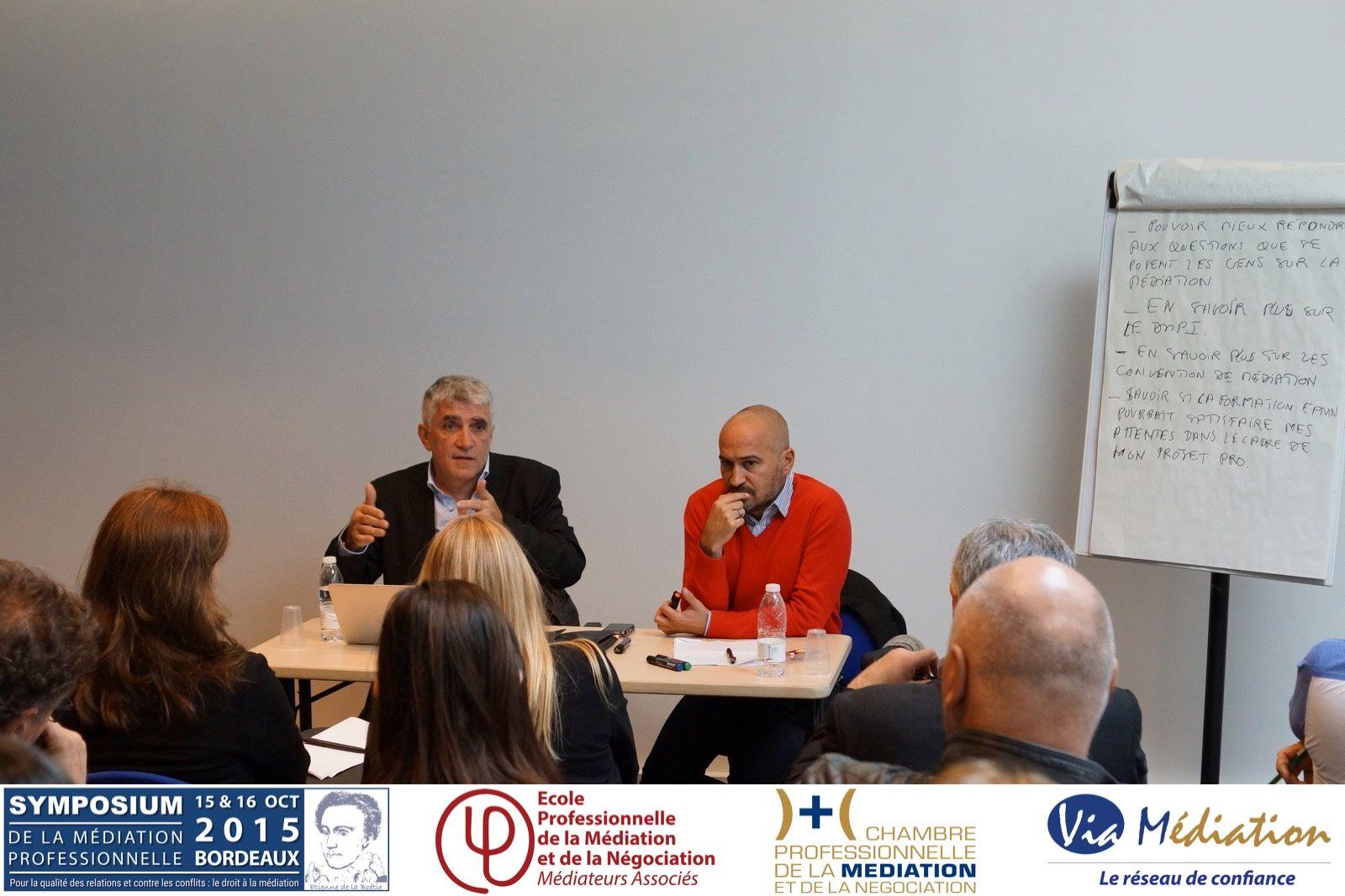 Symposium 2015 les ateliers de formation et de - Chambre professionnelle de la mediation et de la negociation ...